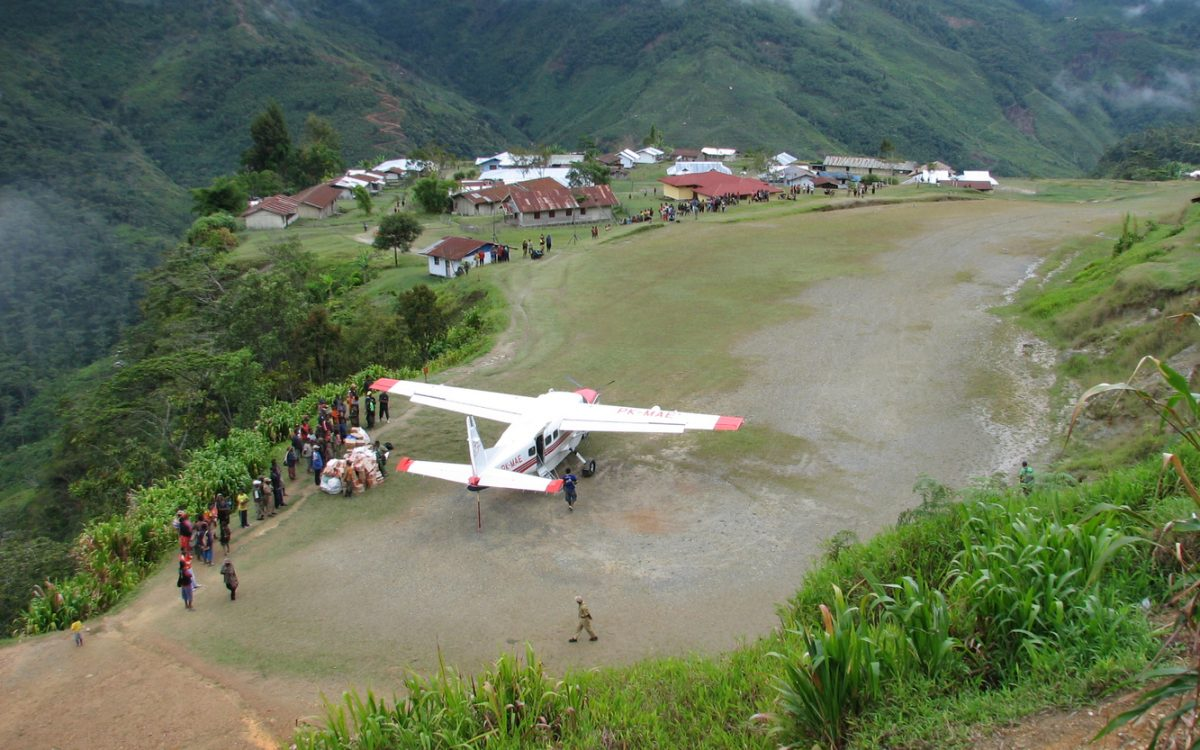 PK-MAE Caravan on its first operational flights in Papua.